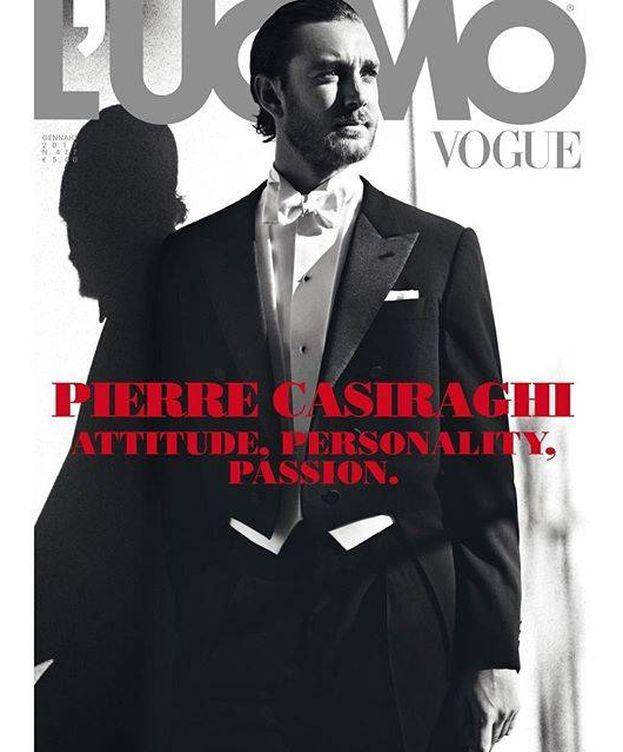 Foto: La portada de L'Uomo Vogue con Pierre Casiraghi