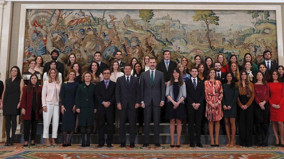 Foto: El Rey recibe en audiencia a registradores de la propiedad. (EFE)