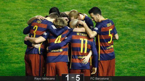 El Barça rompe el récord de Beenhakker exhibiéndose en Vallecas