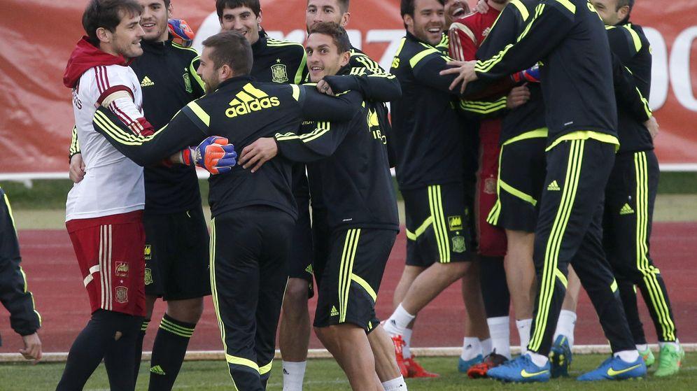 Foto: Entrenamiento de la selección española en Las Rozas (Efe)