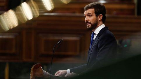 Casado cambia el tono en un discurso de guante blanco con Sánchez: No está solo