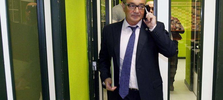 Foto: Ángel Lavín, presidente del Racing de Santander (Efe).