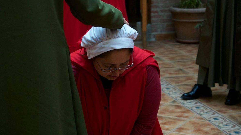 Foto: Una de las jugadoras del rol en vivo ambientado en Gilead (Espe Montero/Not Only Larp)