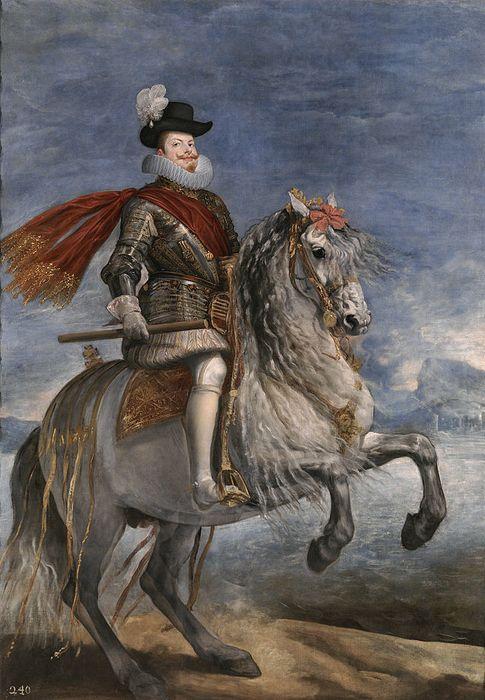 Foto: Retrato de Felipe III a caballo, de Velázquez. (Wikipedia Commons)