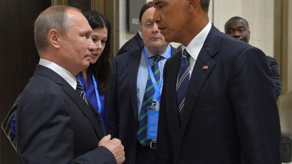 Foto: El presidente ruso Vladimir Putin charla con Barack Obama durante el G20, en Hangzhou, China (Efe).