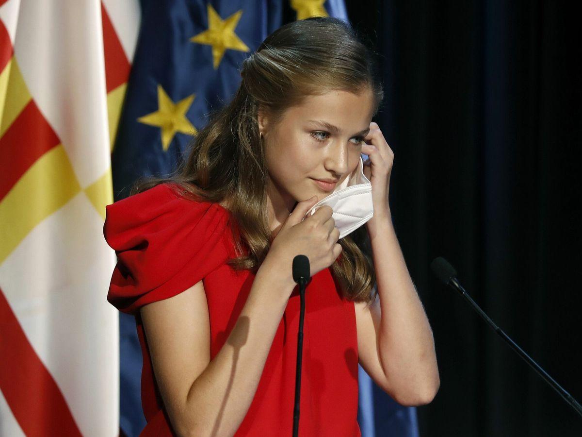 Foto: Leonor, durante su discurso de la Fundación Princesa de Girona. (EFE)
