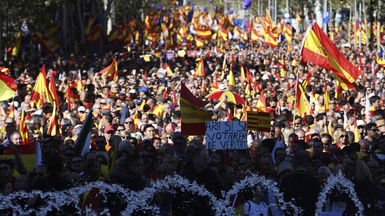 Manifestación convocada por Sociedad Civil Catalana (SCC) el pasado 29 de octubre en Barcelona contra el 'procés' independentista. (Efe)