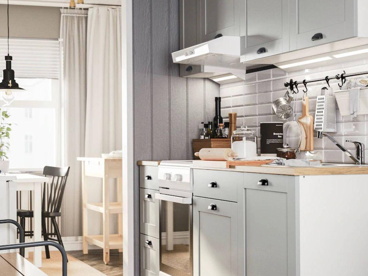 Foto: Soluciones de Ikea para cocinas pequeñas. (Cortesía)