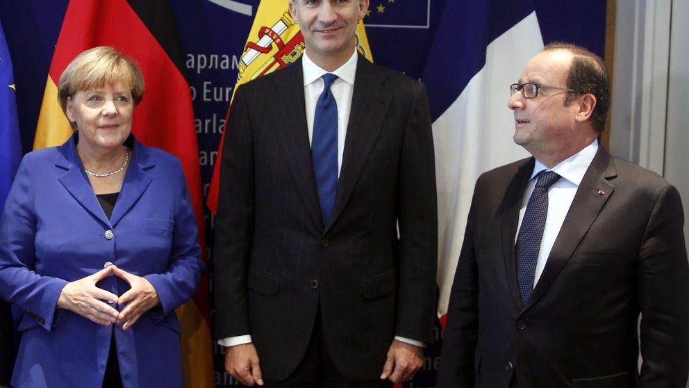 Hollande advierte a Mas tras reunirse con el Rey: El nacionalismo es la guerra