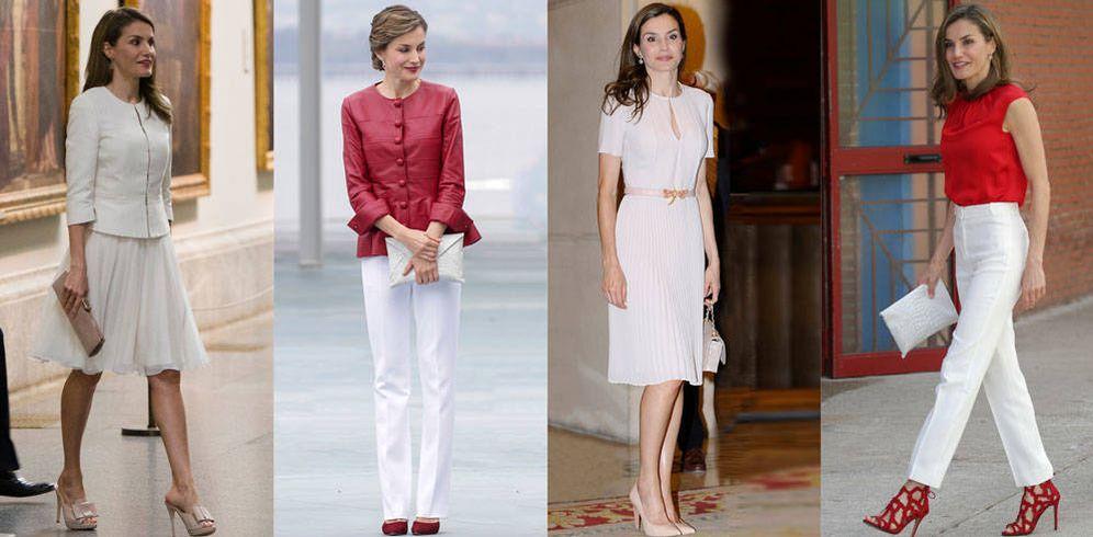 Foto: Los cuatro looks de la reina Letizia esta semana. (Gtres)