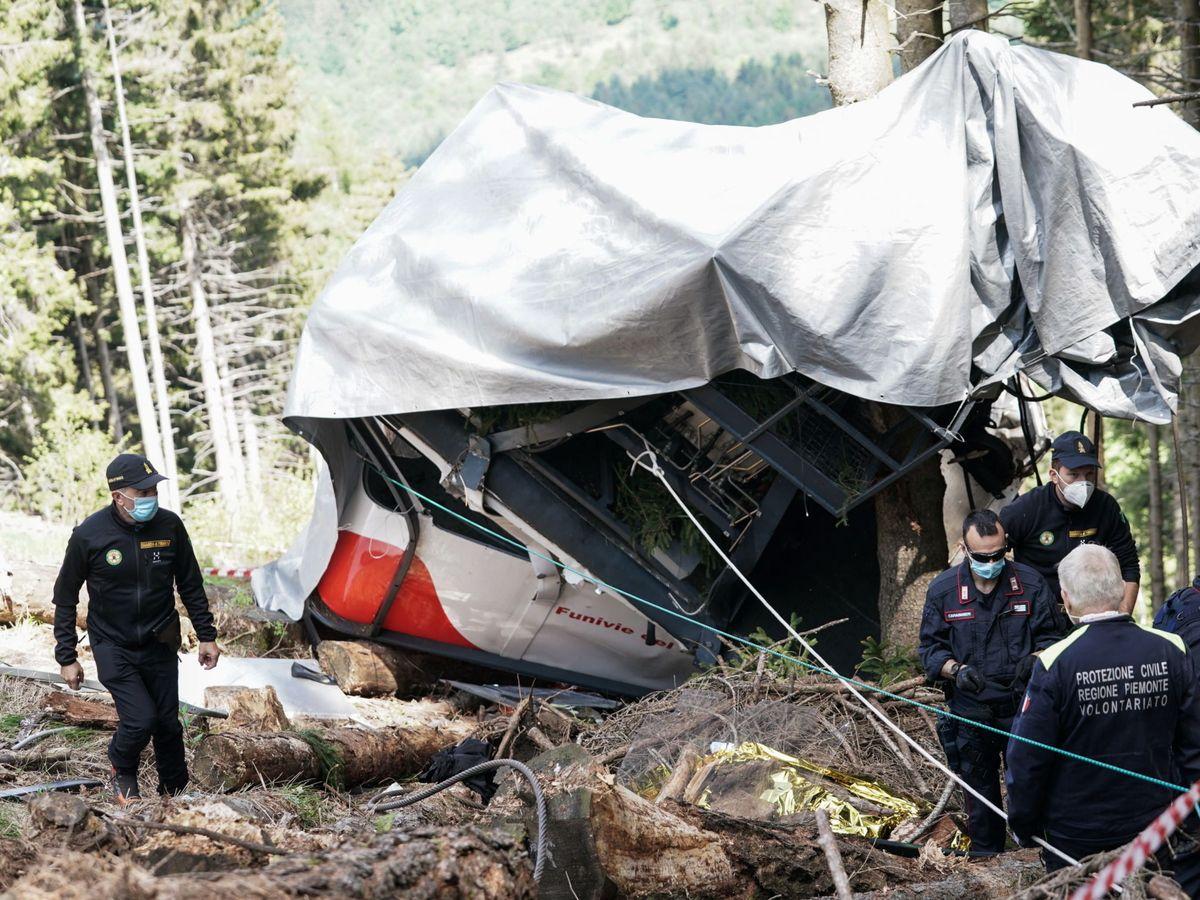 Foto: Lugar del accidente de teleférico en el que solo sobrevivió Eitan. (EFE)
