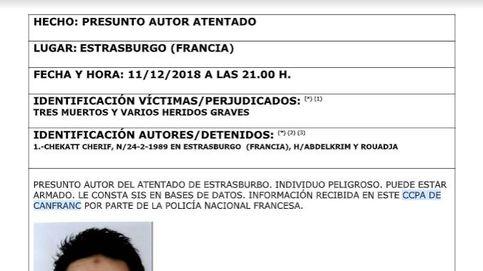 La Policía distribuye en España la ficha del autor del tiroteo en Estrasburgo