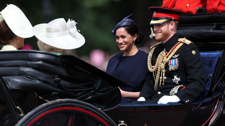 Meghan Markle y el príncipe Harry en el 'Trooping the Colour 2019'. (Reuters)