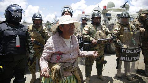 Protestas en contra del Gobierno interino en Bolivia