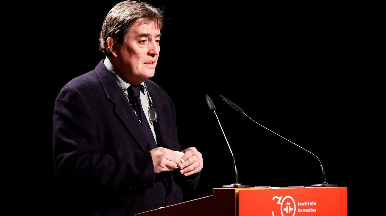 Luis García Montero, durante su discurso. (EFE)