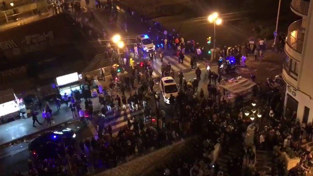 Foto: Estampida en la procesión del Cautivo en Málaga. (Twitter)