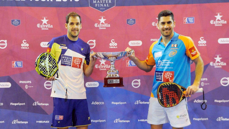 Foto: Primer y último torneo de la pareja Juan Martín Díaz-Maxi Sánchez (Foto: WPT)