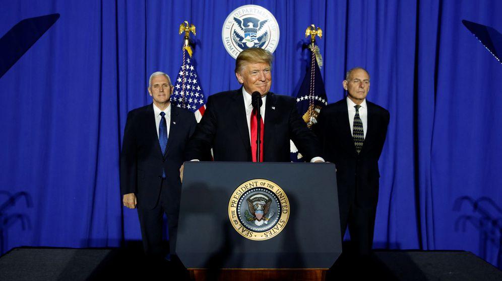 Foto: El presidente Donald Trump, en su comparecencia de este jueves. (Reuters)
