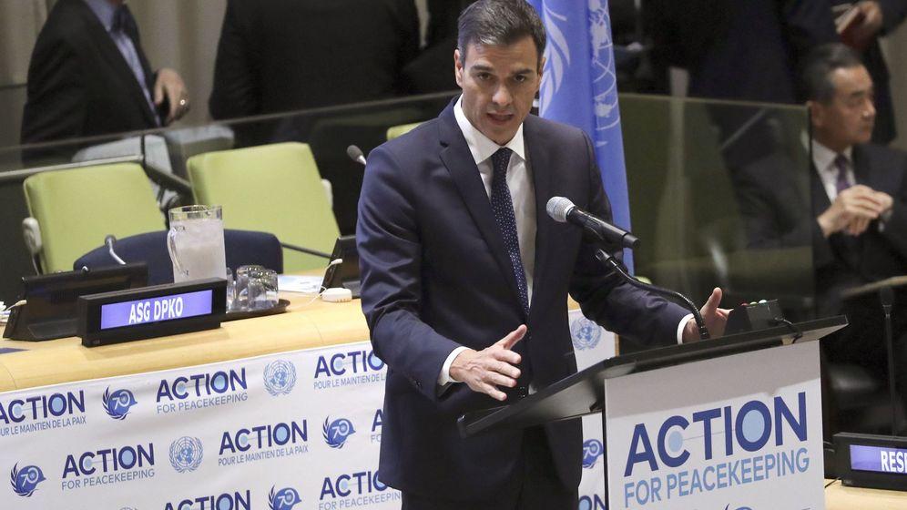 Foto: Sánchez en la reunión sobre acción para el mantenimiento de la paz organizada en la sede de Naciones Unidas, en Nueva York. (EFE)