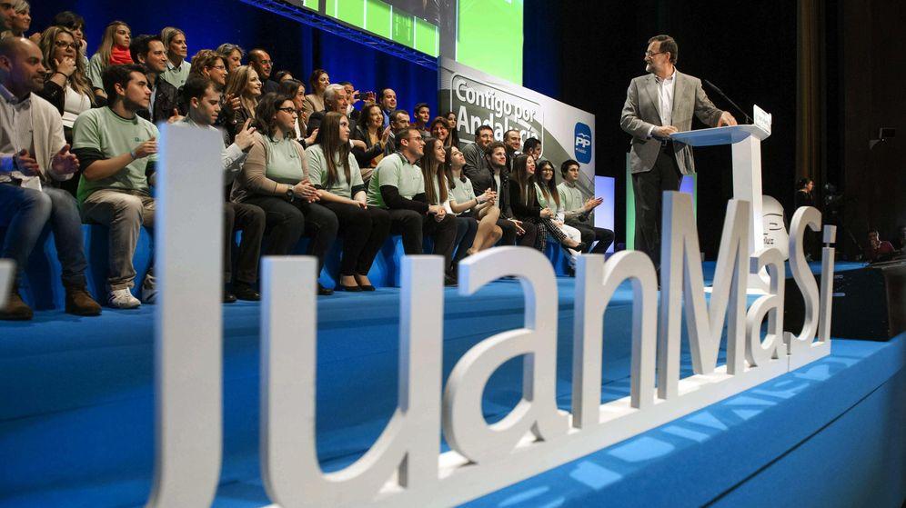 Foto: Mariano Rajoy, en un acto de las elecciones andaluzas. (EFE)