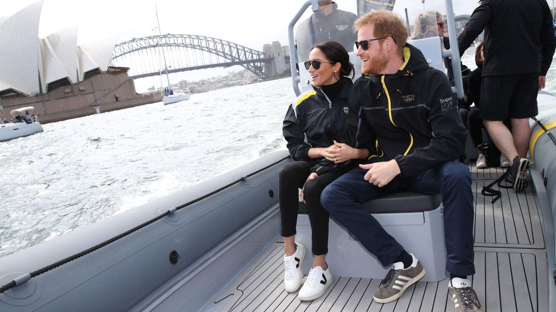 Harry y Meghan, en Sídney en 2018. (Reuters)