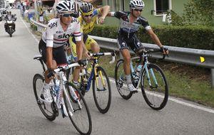 Brambilla y Rovny se lían a puñetazo limpio en plena Vuelta