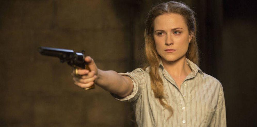 Foto: La actriz Evan Rachel Wood, que interpreta a la robot 'Dolores' en Westworld.