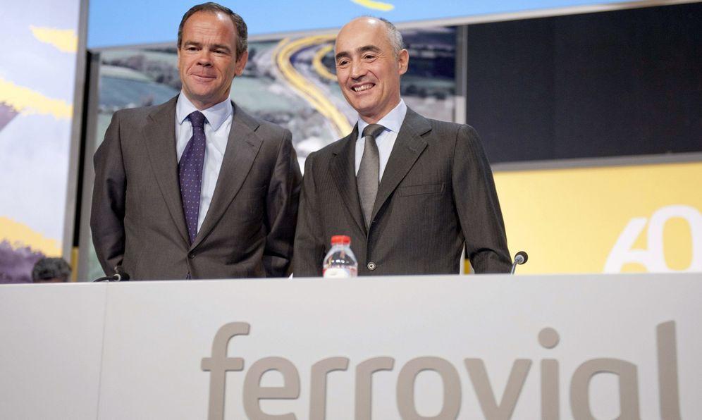 Foto: Íñigo Meirás, consejero delegado de Ferrovial, y Rafael del Pino, presidente.