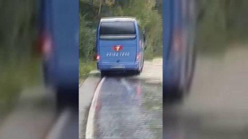 Así fue el recorrido de un autobús durante la riada de Girona