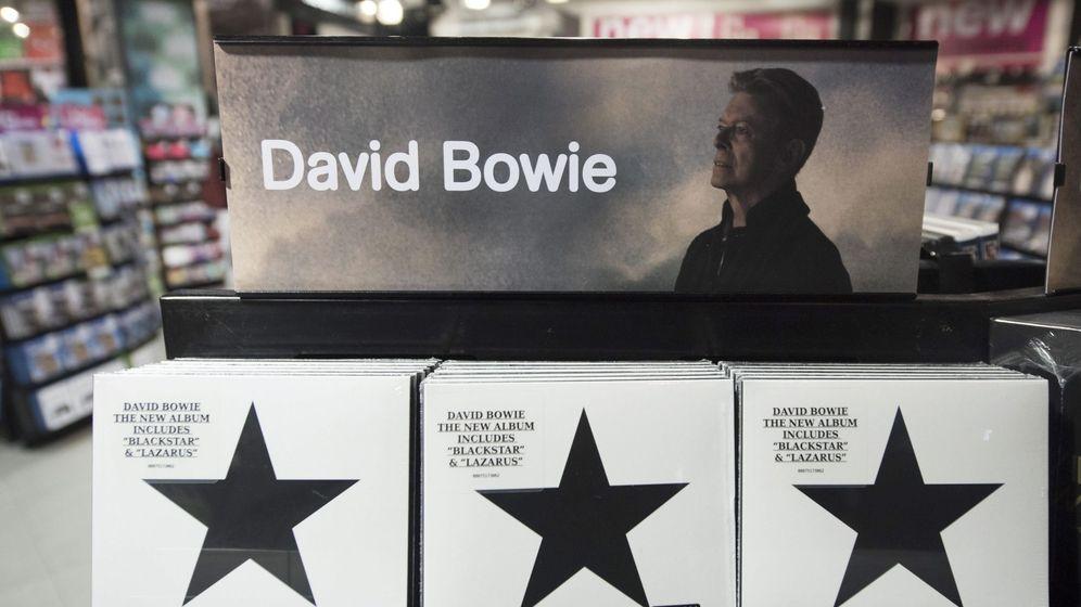 Foto: Vista del disco 'Backstar', del cantante británico David Bowie.