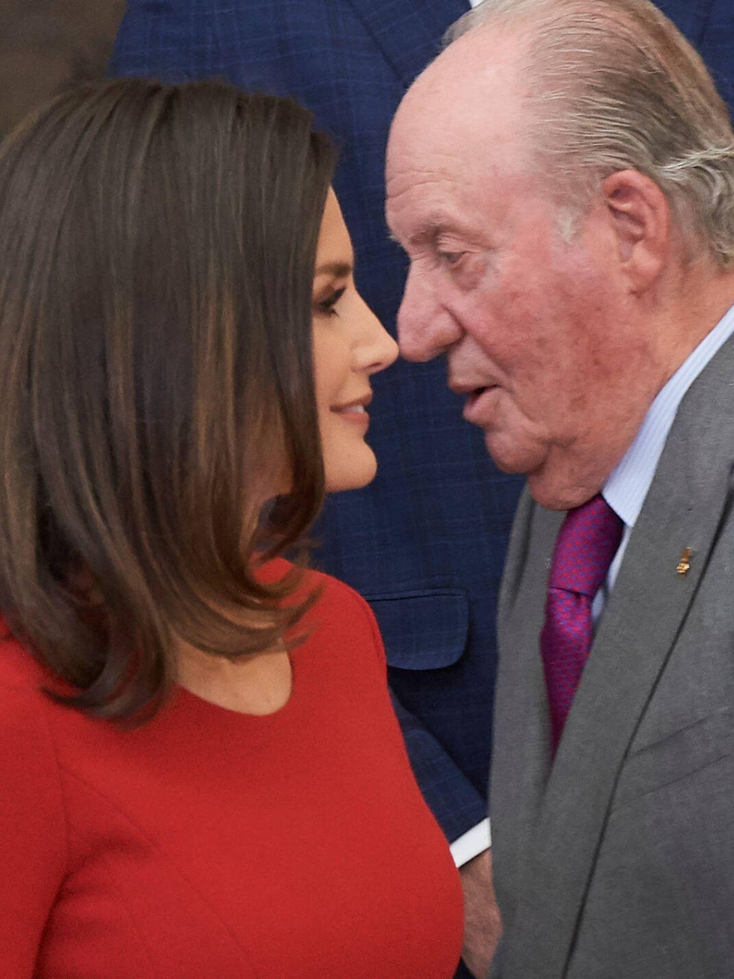 La reina Letizia y el rey Juan Carlos. (LP)