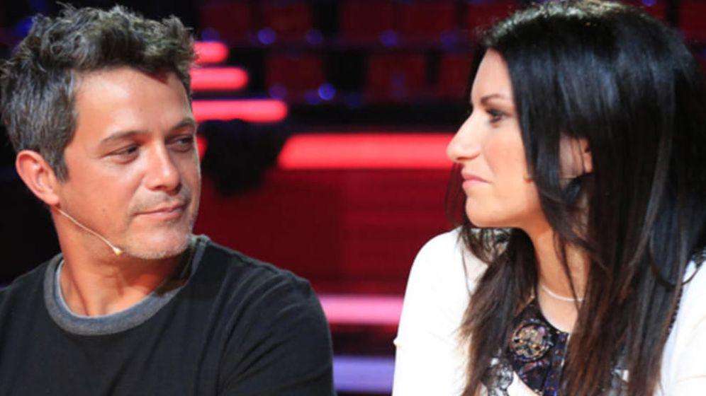 Foto: Laura Pausini y Alejandro Sanz