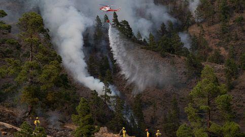 Un centenar de efectivos trabajan durante la noche en el incendio de Arico (Tenerife)