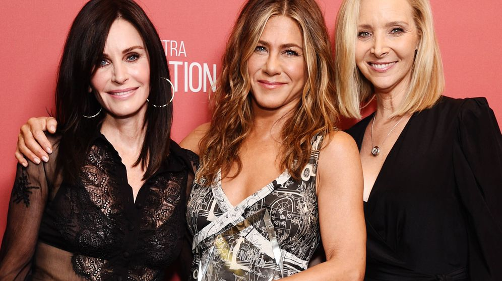 Foto: Courteney Cox, Jennifer Aniston y Lisa Kudrow. (Getty)