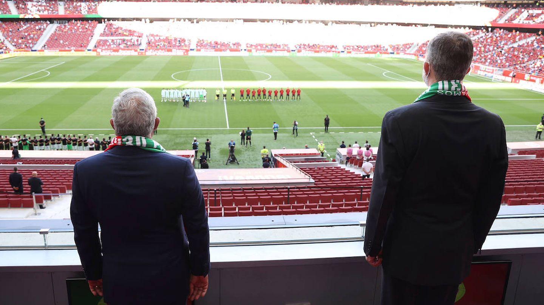 Felipe VI y Marcelo Rebelo de Sousa en el Wanda Metropolitano. (Limited Pictures)