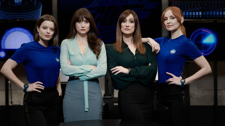 Las protagonistas femeninas de 'Cuerpo de élite' en Antena 3. (Roberto Garver)