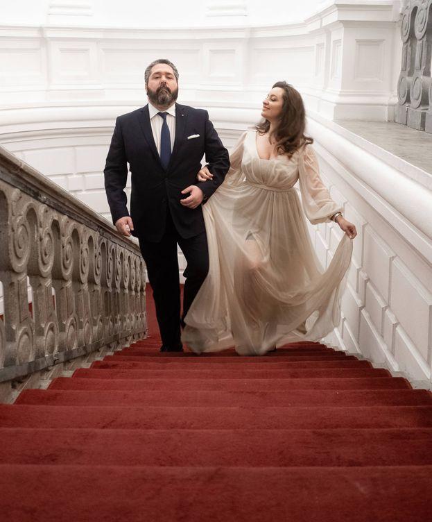 Foto: El gran duque y su prometida. (Foto: Cancillería de la Casa Imperial de Rusia)