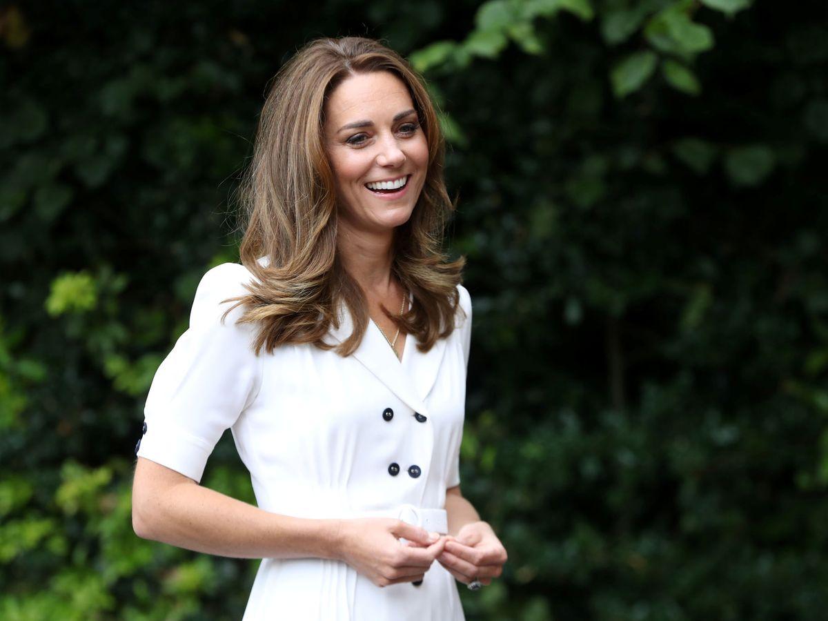 Foto: Kate Middleton y su nuevo look. (REUTERS)