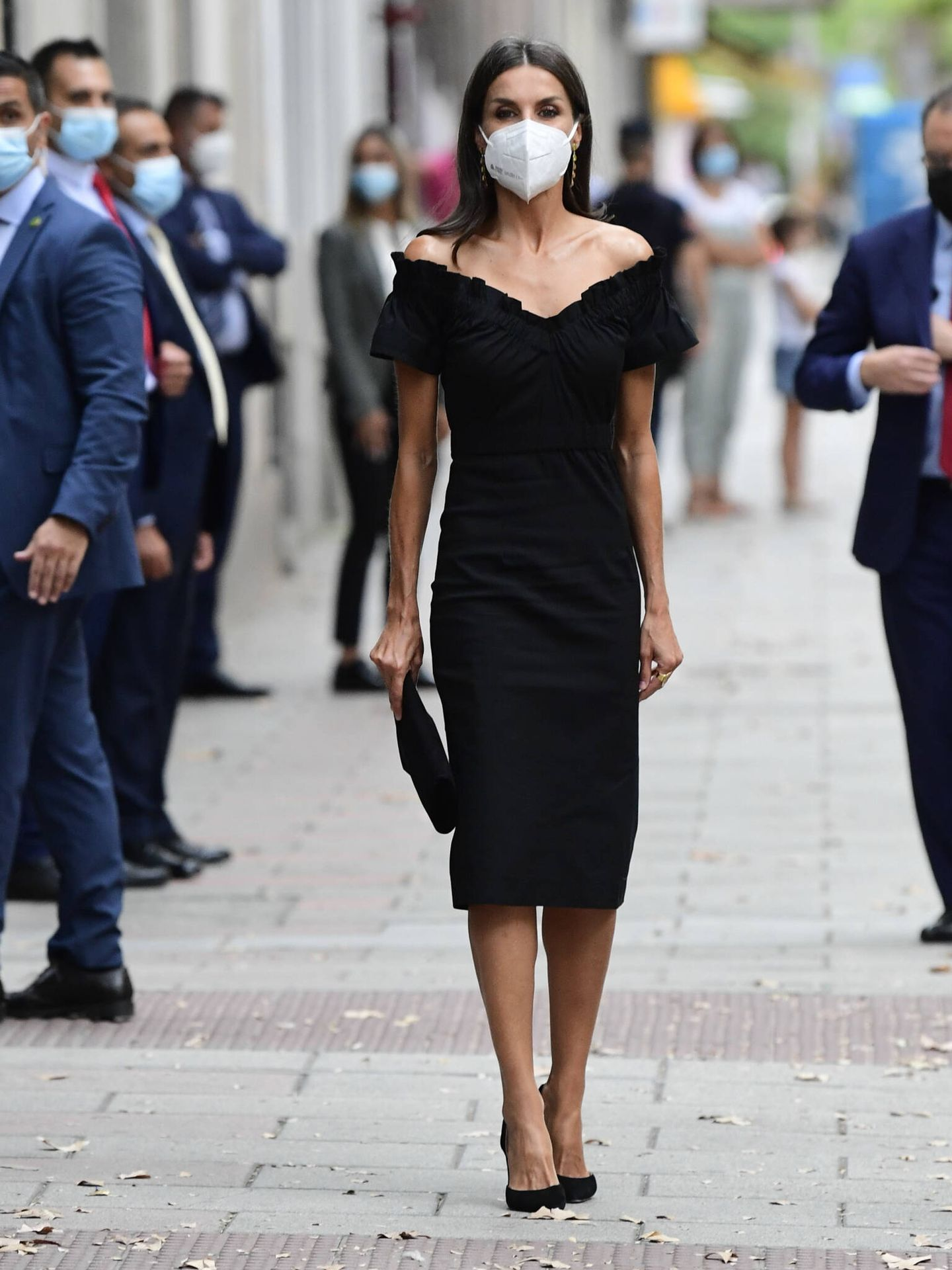 La reina Letizia, en su llegada al acto. (Limited Pictures)