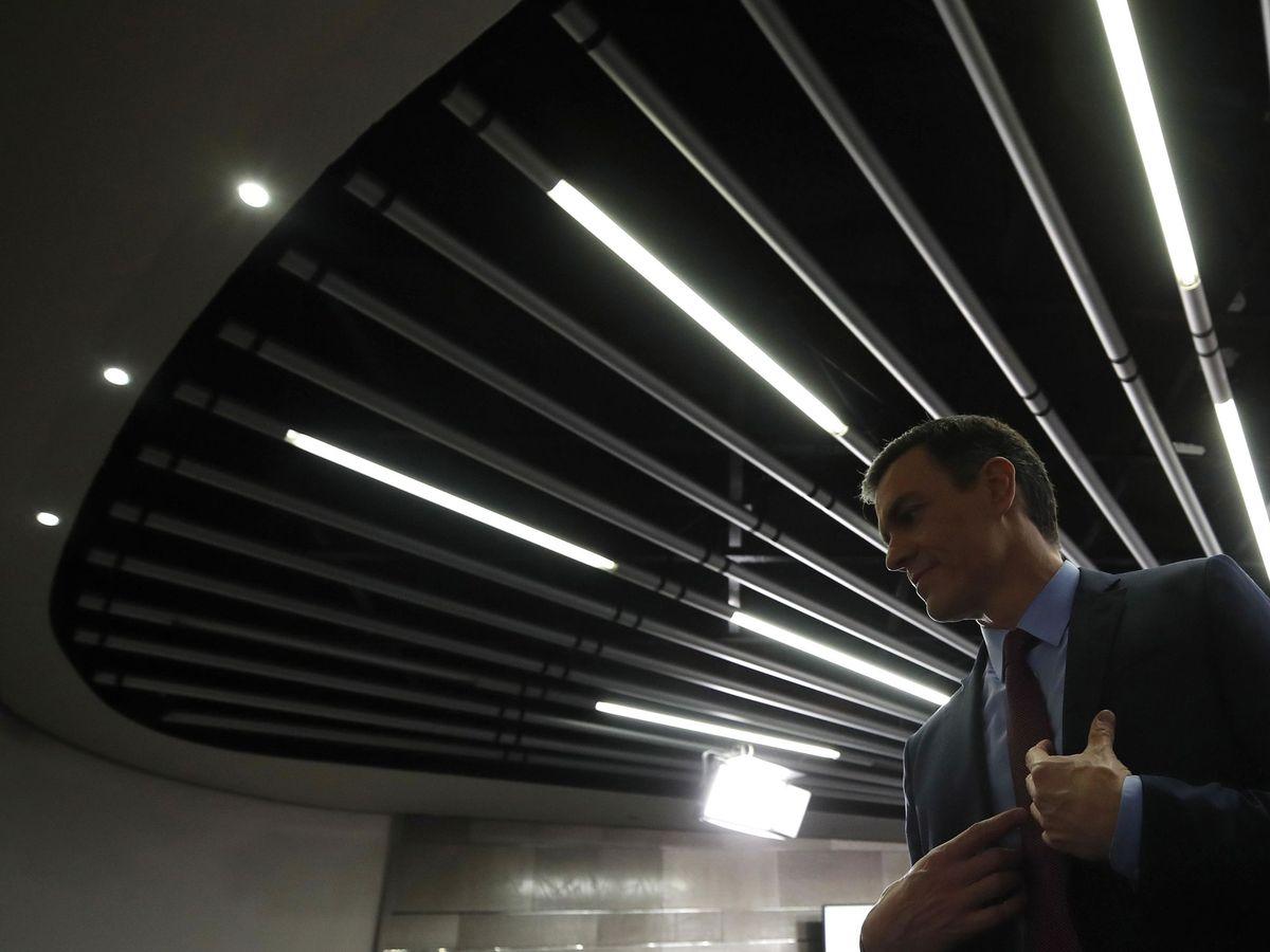 Foto: Pedro Sánchez, este 10 de marzo, en la rueda de prensa por el coronavirus en la Moncloa. (EFE)
