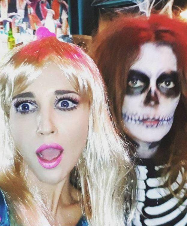 Foto: La actriz Paula Echevarría en la fiesta de las Pencas por Halloween. (Instagram)