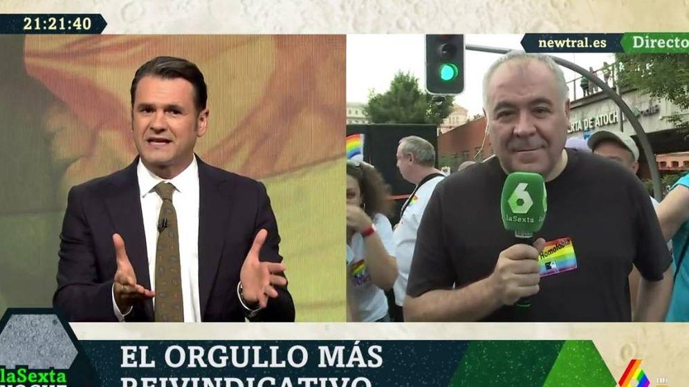 Foto: Iñaki López y Antonio García Ferreras. ('La Sexta noche').