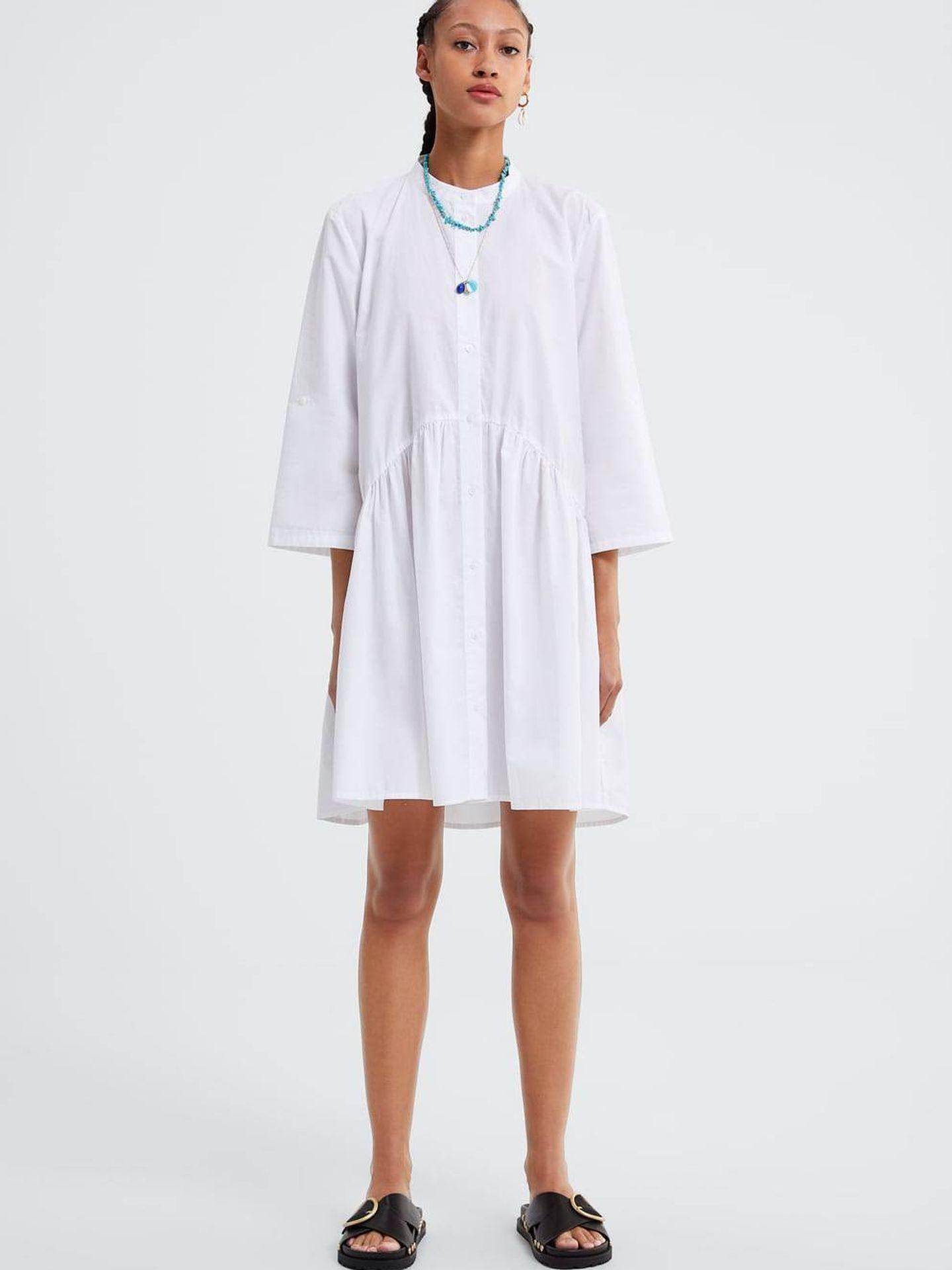 El vestido de Zara que lleva Pippa Middleton. (Cortesía)