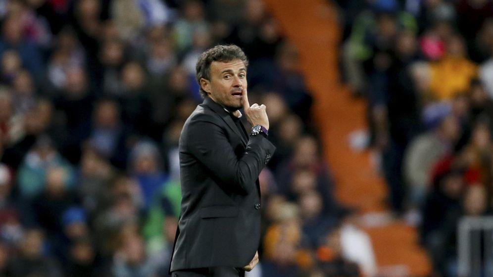 Foto: Luis Enrique ganó por primera vez en el Bernabéu como entrenador (Juanjo Martín/Efe)