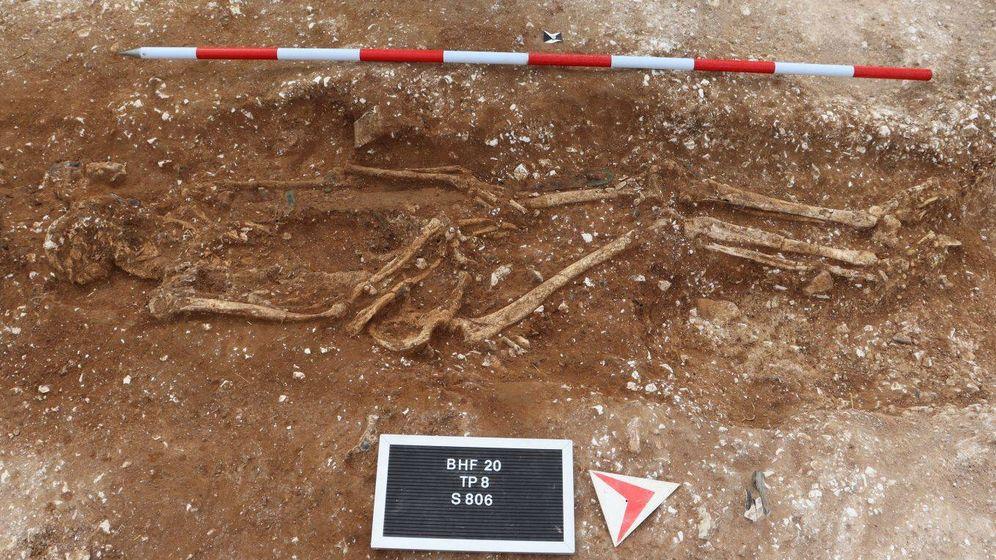 Foto: El enterramiento del señor de la guerra de Marlow. (Universidad de Reading)