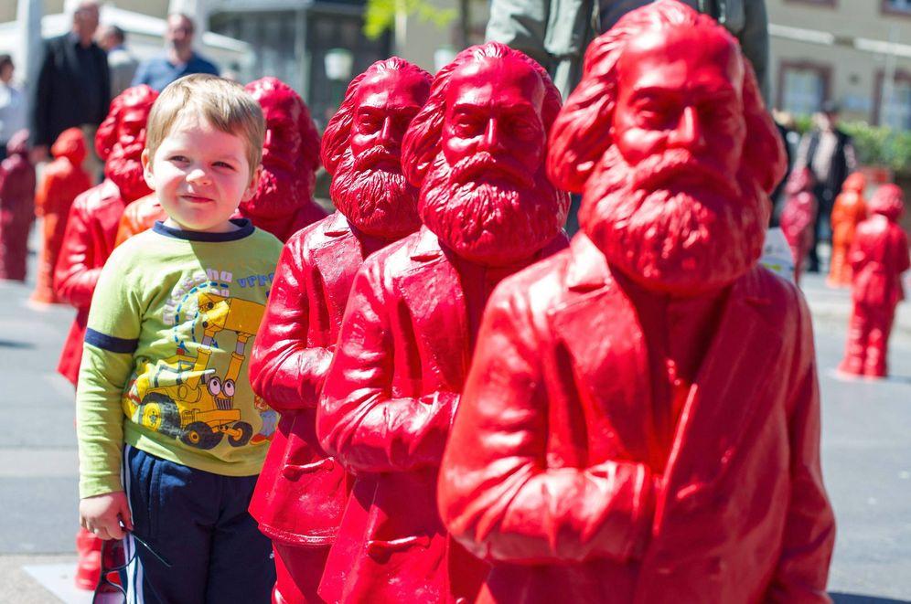 Foto: 500 estatuas de Karl Marx en un pueblo alemán en 2013 (EFE)