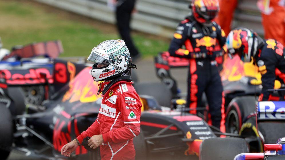 Foto: Vettel, tras el Gran Premio de Gran Bretaña. (Reuters)