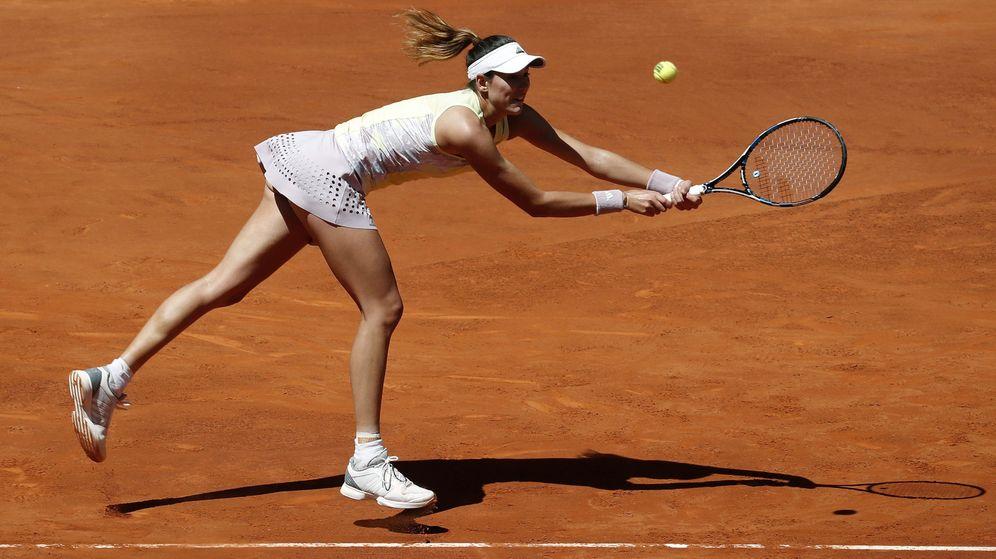 Foto: Garbiñe Muguruza, durante su partido con Anna Schmiedlova de la primera ronda del Masters 1000 de Madrid (EFE)