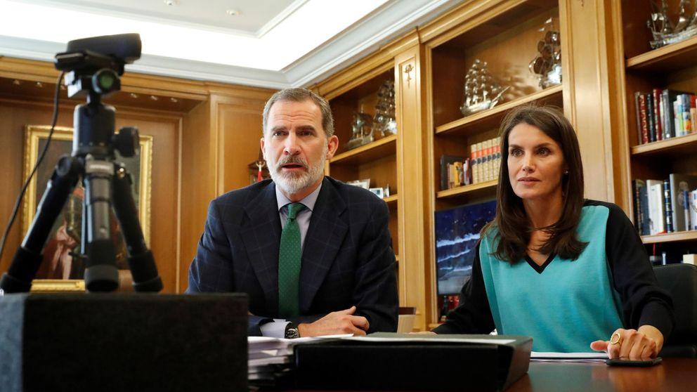El emérito, el Rey y la esposa de este