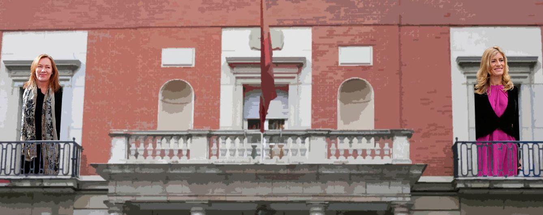 Foto: Elvira Fernández y Begoña Gómez en un fotomontaje realizado en Vanitatis